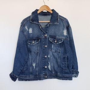 Jackets & Blazers - 2 for $25 Vintage 90s denim destressed jean jacket